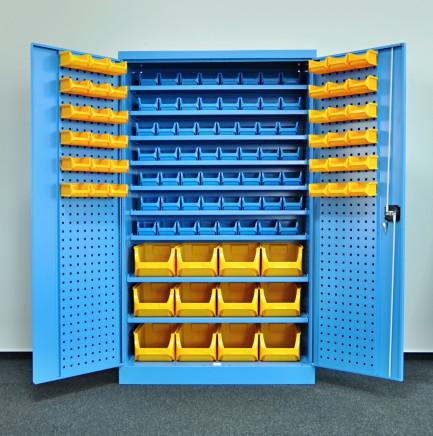 6fa669e318c77 Dielenské skrine Kovos s plastovými boxami SPZ_11_0003 (9 modelov ...